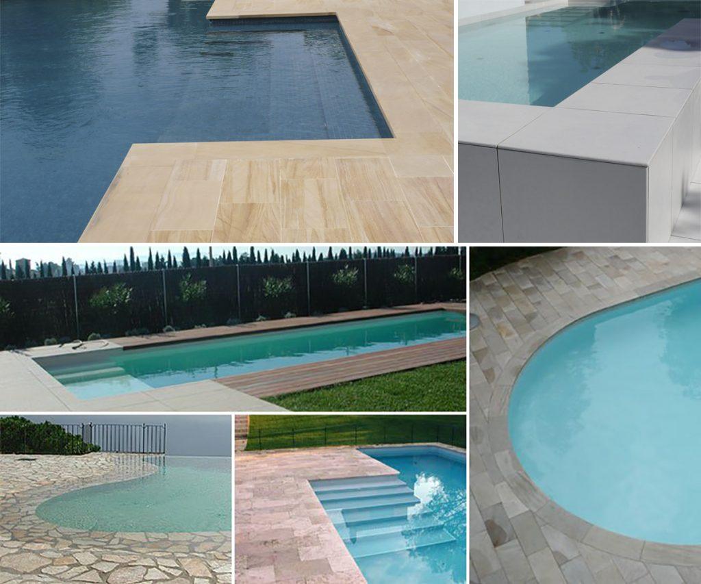 Pavimentos para realizar la coronaci n y terraza de la for Coronacion de piscinas precios