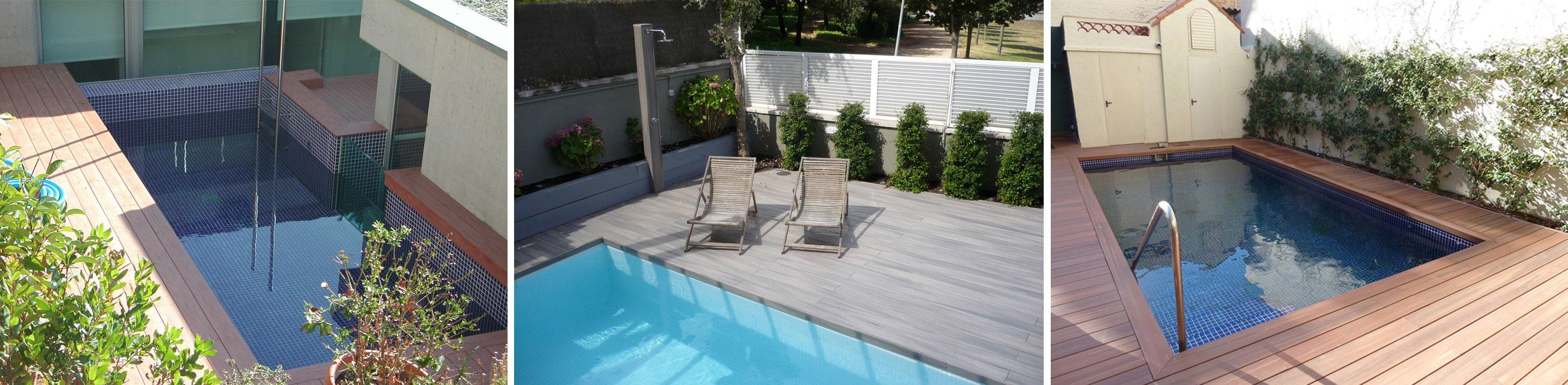 Piscina pequena terraza dise o belle maison for Piscinas pequenas para terrazas