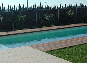 Pavimentos para realizar la coronación y terraza de la piscina