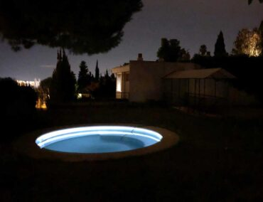 Un círculo de agua